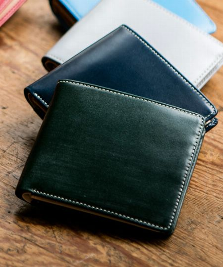 『ブリティッシュグリーン』ブライドルレザー二つ折り財布