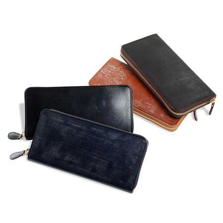 『ゾンネ』カイザー水染めコードバン 二つ折り財布 soc002re