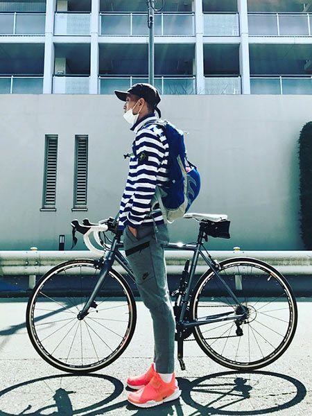 自転車乗りにハマるアスレジャースタイル
