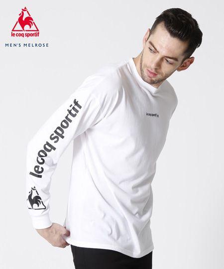 スリーブプリント長袖Tシャツ