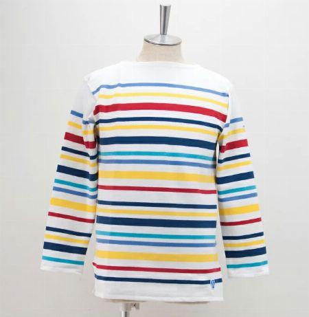 フレンチセーラーTシャツ マルチボーダー