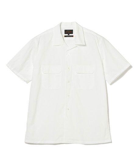 『ナノ・ユニバース』微起毛オープンカラーシャツ 長袖