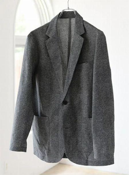 『ブラックレーベル クレストブリッジ』ダブルフェイスメランジジャージージャケット