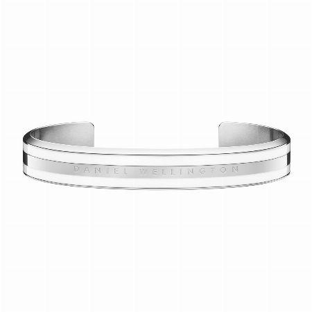 Classic Bracelet Satin White Silver