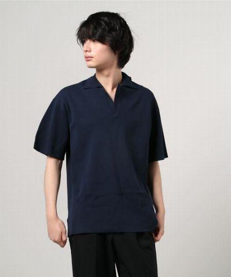 『サバイ』オープンカラーポロシャツ