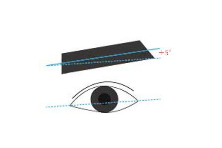 眉の角度は5度くらい上げる