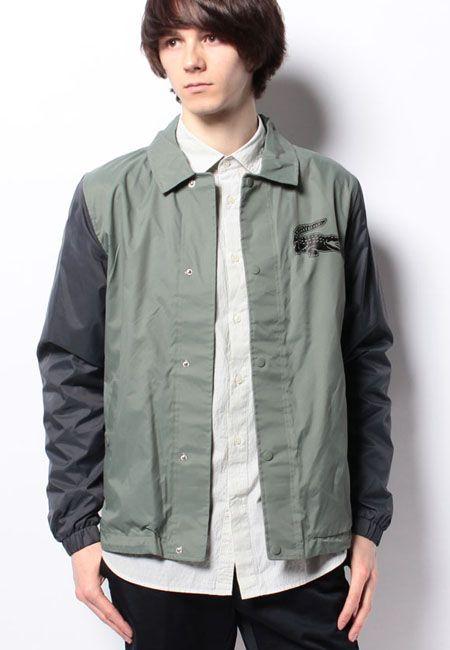 『ラコステ』のナイロンシャツジャケット