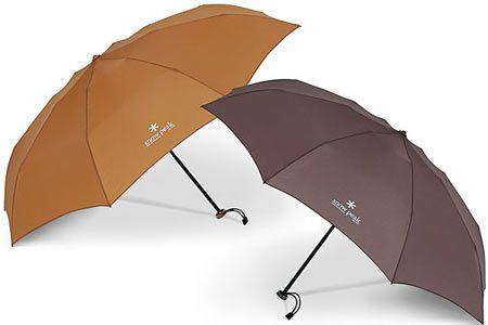 品よく真面目な『スノーピーク』の意匠は、折りたたみ傘にも顕著