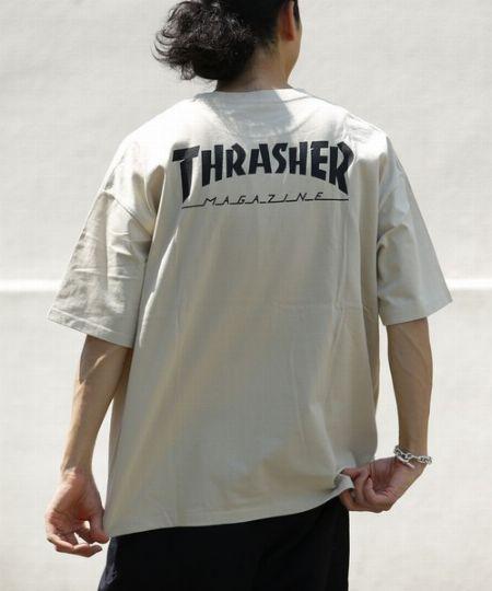 『スラッシャー』×『フリークスストア』 別注 マグロゴ バックプリントTシャツ/ビッグサイズ