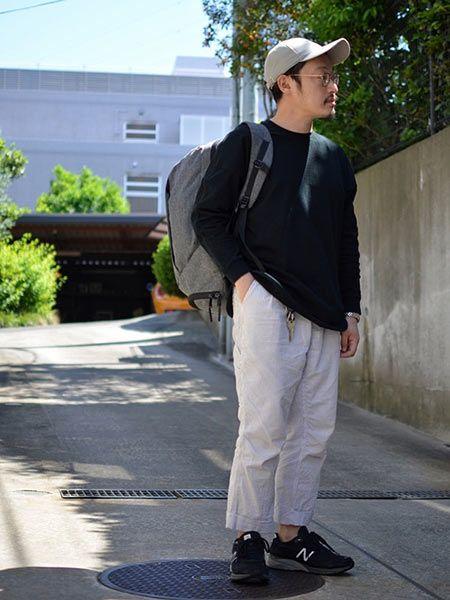 オン・オフ使えるところも魅力的。『エアー』のバッグを取り入れた着こなし好サンプル 5枚目の画像