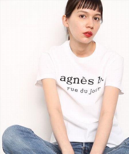 売り切れ必至!『アニエスベー』×『アダム エ ロペ』のロゴTシャツ 4枚目の画像
