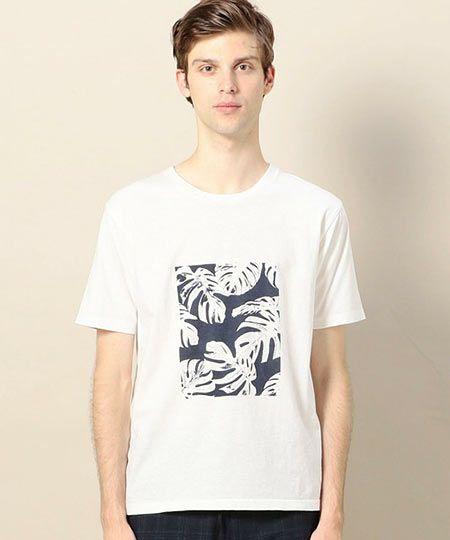 『ビューティ&ユース ユナイテッドアローズ』リーフプリント Tシャツ