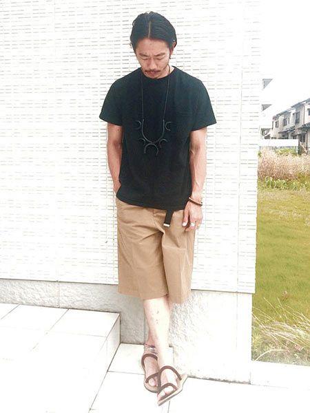 Tシャツ×ワイドシルエットのショーツ 2枚目の画像