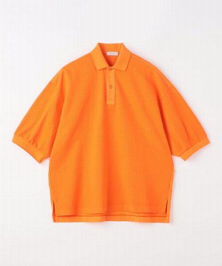 『トゥモローランド』コットンピケ×ジャージー ビッグポロシャツ