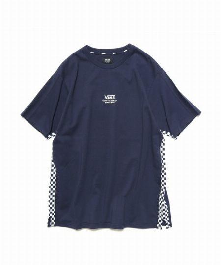 サイドチェッカープリントTシャツ