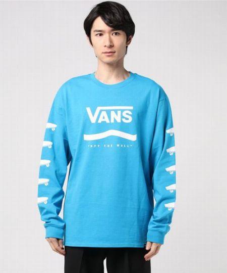 プライマリー カラーL/S Tシャツ ブルー