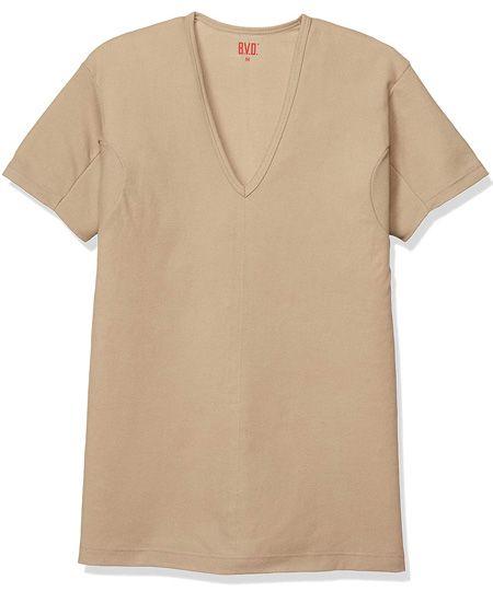 『B.V.D.』VネックTシャツ