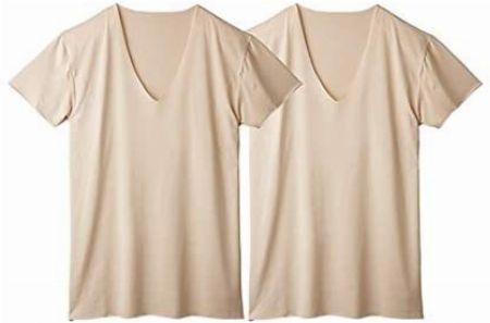 『ニッセン』深VネックTシャツ 2枚セット