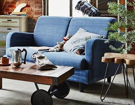 デニムはソファでも使いやすいんです