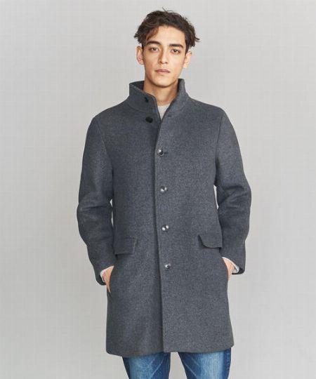 『ビューティ&ユース ユナイテッドアローズ』ダブルフェイス メルトン スタンドカラー コート