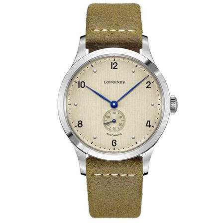 コッパー(銅)カラーの文字盤がカジュアルな装いに馴染む「ヘリテージ1945」