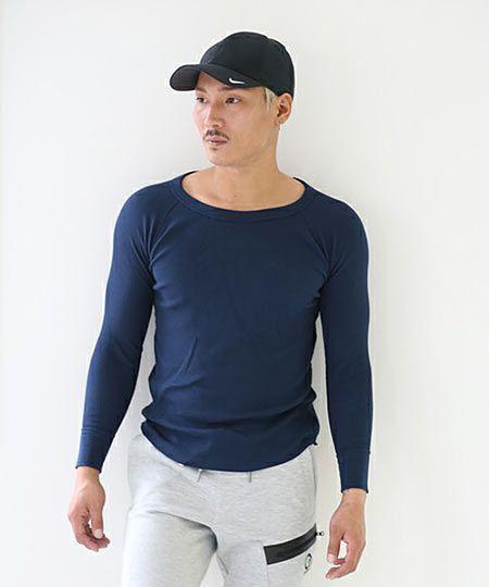 サーマルクルーネックロングスリーブTシャツ