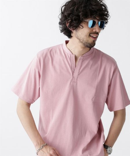 『ナノ・ユニバース』バンドカラースキッパービッグポロシャツ