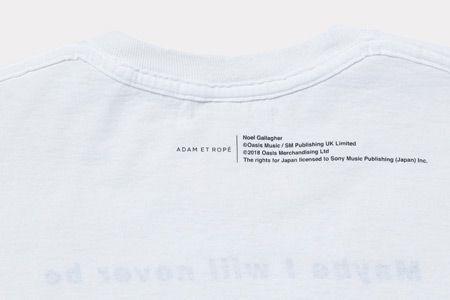 オフィシャルにはこれまでなかったオアシスのリリック入りTシャツ 2枚目の画像