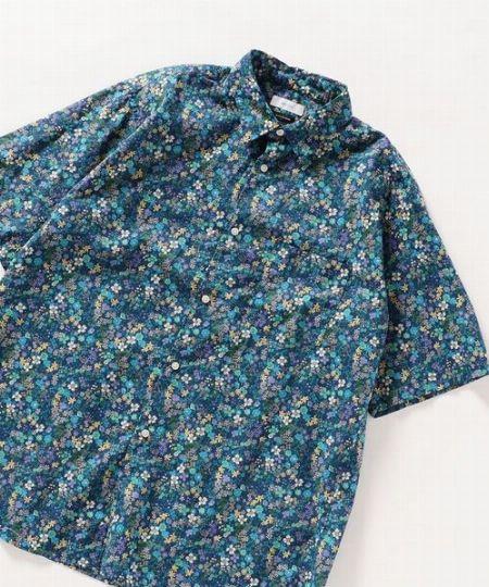 『シップス エニィ』リラックス 花柄レギュラー半袖シャツ