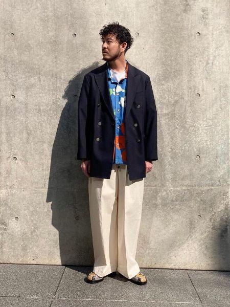 『アーバンリサーチ iD』プリントオープンカラーシャツ