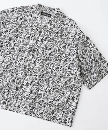 『クラフトニコルソン』×『カッパ』別注ロゴ刺繍 総柄オープンカラーアロハシャツ