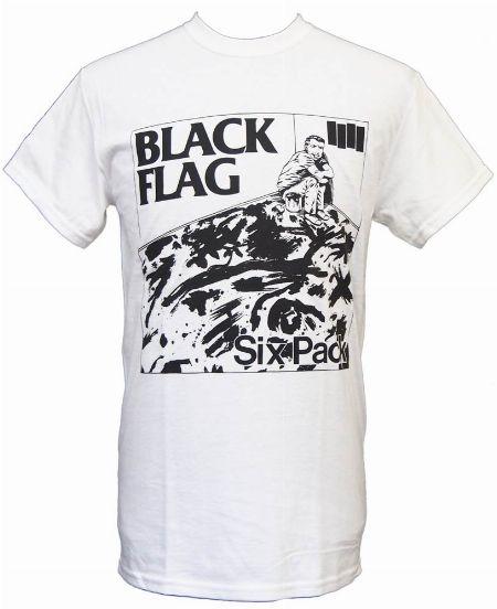 『ノーブランド』ブラック・フラッグTシャツ