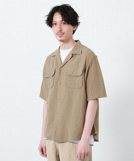 オープンカラーSSシャツ