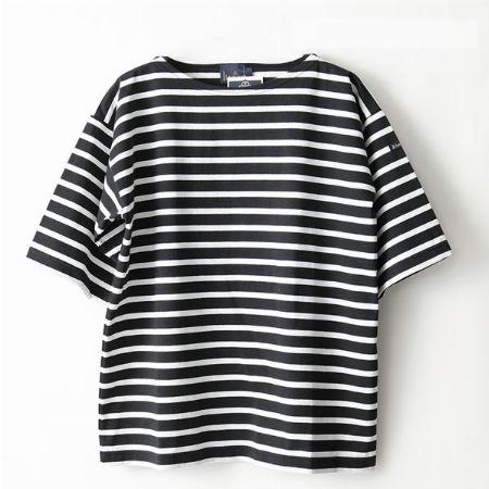 5分袖バスクシャツ