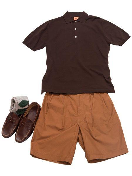 カジュアルな着こなしをブラウンのワントーンで上品に昇華