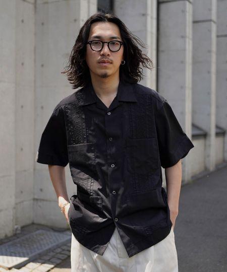 『グラム』レインボーキューバシャツ