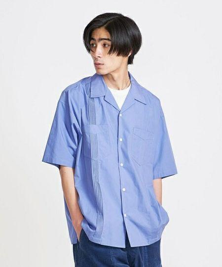 『TMT』フラワー エンブロダイリー キューバ S/SL シャツ