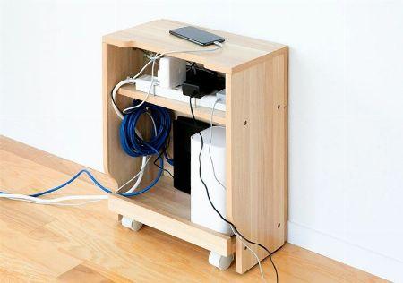 ケーブルボックスなら、ごちゃごちゃしがちなケーブル周りをすっきり整頓