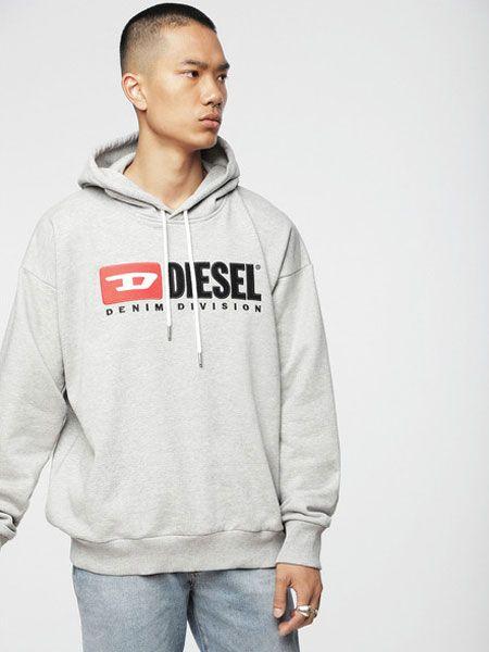 『ディーゼル』ヴィンテージロゴ スウェットパーカー