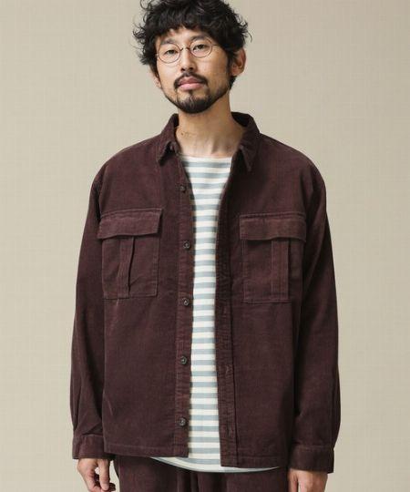 『ナノ・ユニバース』11WコーデュロイレギュラーカラーCPOシャツ