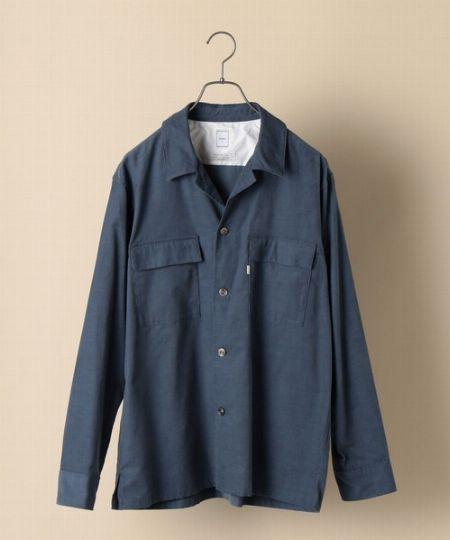 『シップス』ライト コーデュロイ オープンカラー シャツ