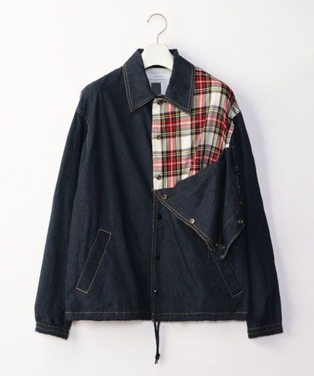 存在感がありつつも装いに馴染みやすい切り替えジャケット
