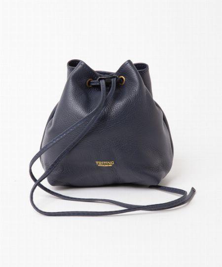 『タスティング』レザー巾着バッグ