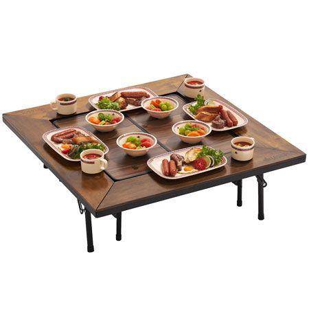 『ロゴス』アイアンウッド囲炉裏テーブル&囲炉裏フィットテーブル