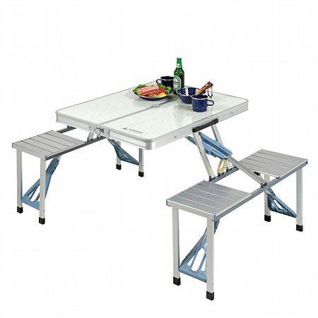 『キャプテンスタッグ』DXアルミピクニックテーブル