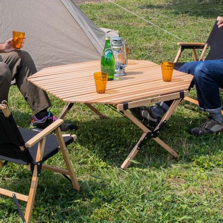 『フィールドアー』ウッドロールテーブル90 オクタゴンタイプ