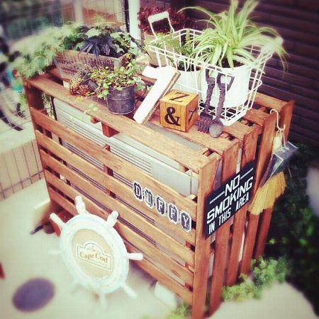 室外機カバーと植物はマスト!