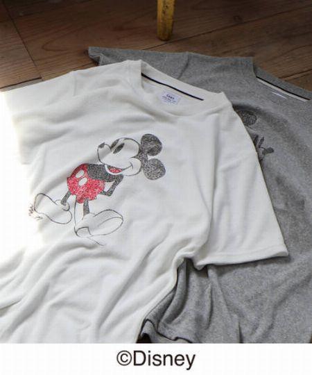 『コーエン』ディズニー ミッキー パイルプリントTシャツ
