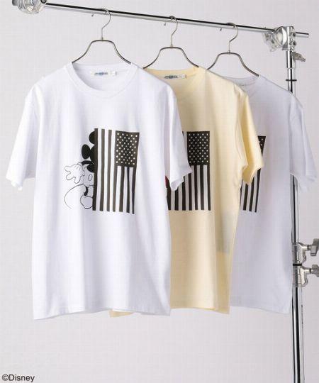 『ユニオンステーション』ミッキー 星条旗デザインTシャツ