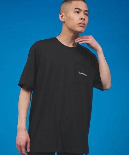 『カルバン・クライン ジーンズ』クルーネック ポケット Tシャツ